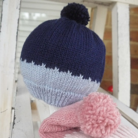Beanie - Pink or Blue for Toddler