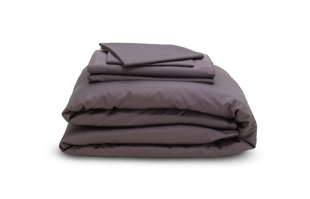 The Earth Company - 100% Pure Organic Eco Cotton Whole Bedsheet & Duvet Set - March Stone