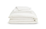 The Earth Company - 100% Pure Organic Eco Cotton Whole Bedsheet & Duvet Set - Snow Field
