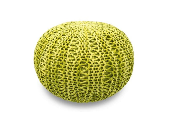 The Earth Company - 100% Cotton Pouf, Tulsi Green