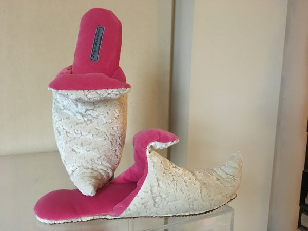 Handmade Babouche Slippers..hot pink