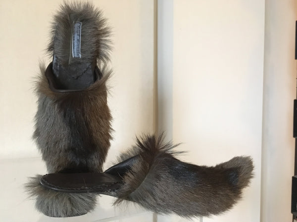 Handmade Fur Babouche  Slippers...indoor and out