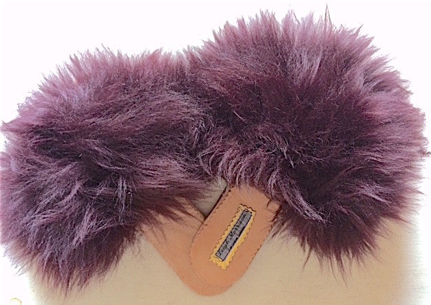 Purple Sheepskin sliders