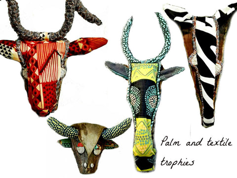 Palm and textile trophies