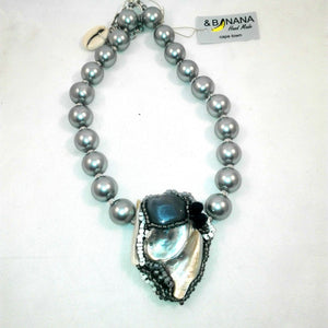 Pearl Cameo Necklace