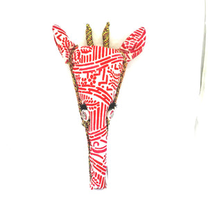 Textile Giraffe Head Trophy
