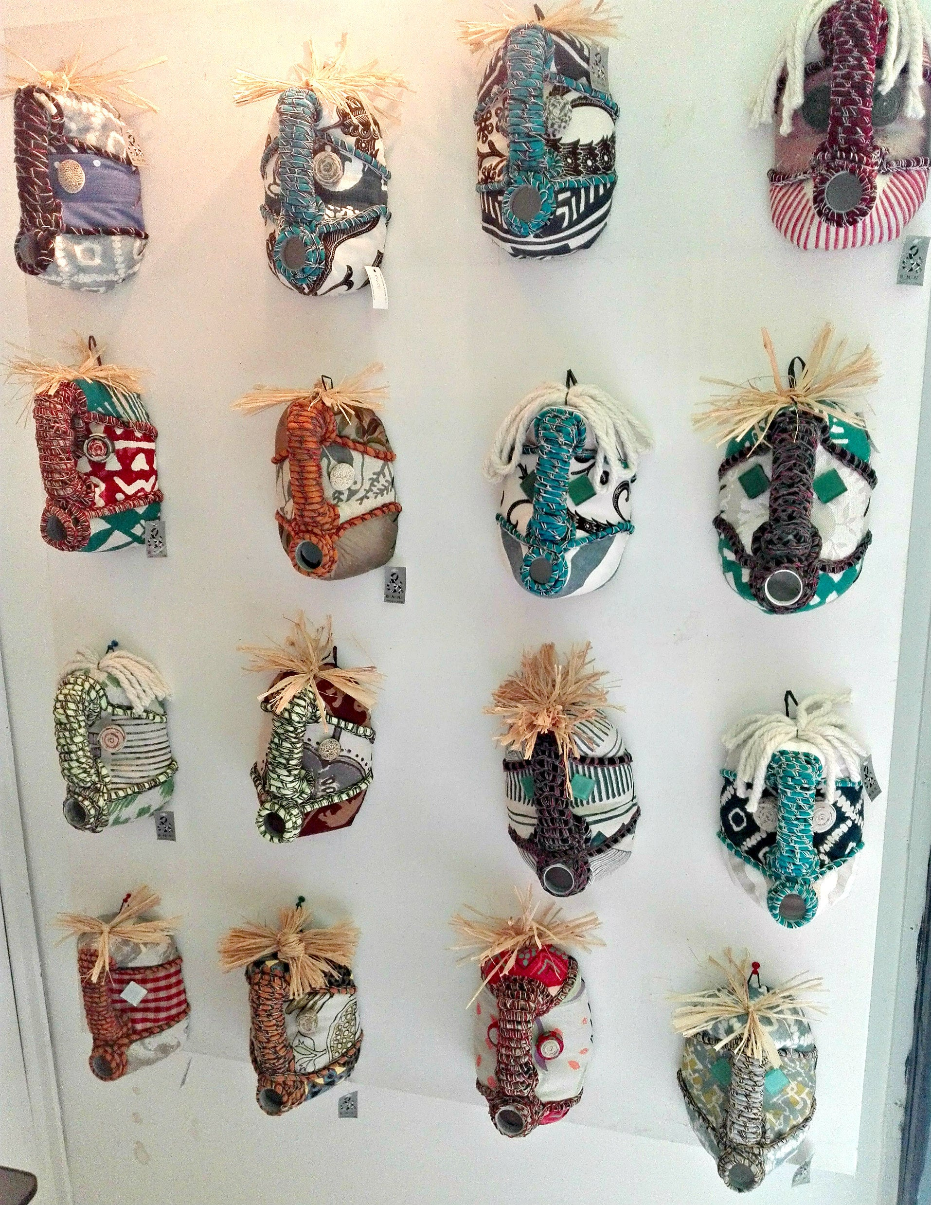 Contemporary Textile African Masks