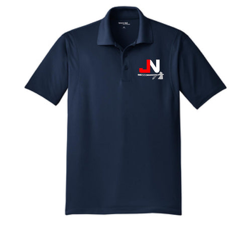 Navy Dri Fit Polo Embroidered with JN logo on front - EXPIRED MONDAY JULY 16th at 8AM!