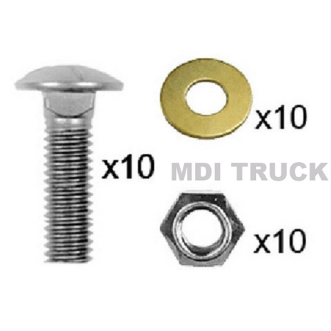 "Carriage Bolt Set (8'2"" & 9'2"" RT3 Power-V)"