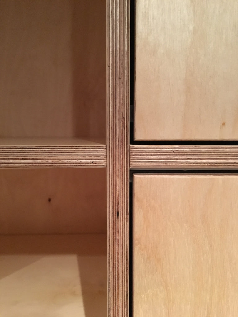 Bespoke & handmade birch plywood wardrobe. Made by Jon Grant London in Leyton, East London.