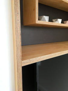 Bespoke plywood TV unit made by Jon Grant London in East London