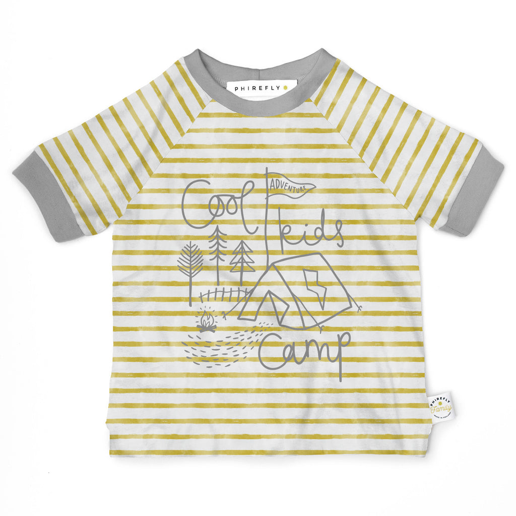 Organic cotton breton stripe Cool Kids Camp T-shirt