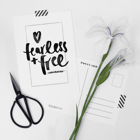 Fearless + Free Charity Postcard