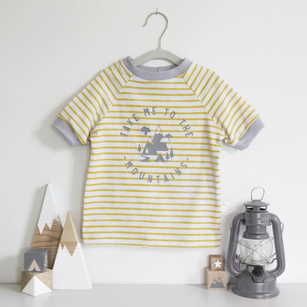 Take Me to the Mountains Breton Stripe T-Shirt Age 3-6 Months