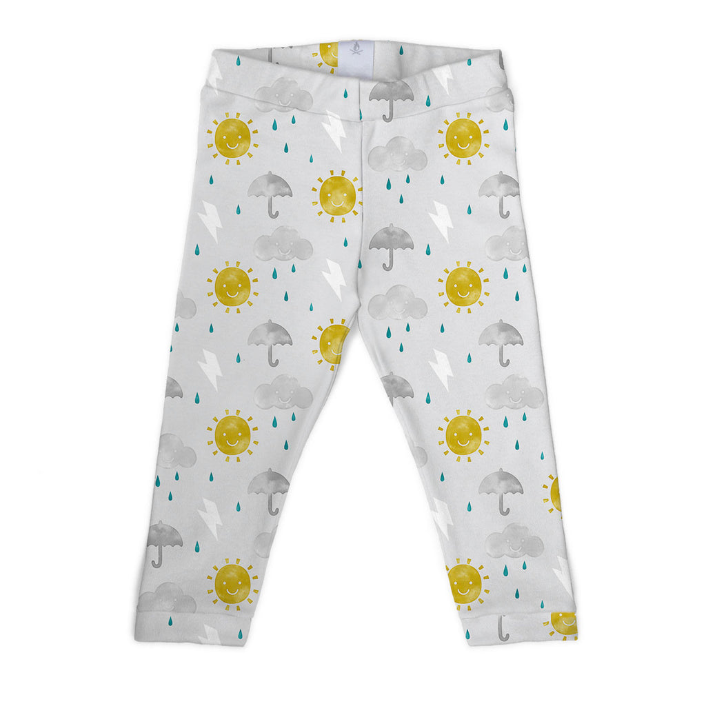 organic cotton happy weather watercolour unisex leggings