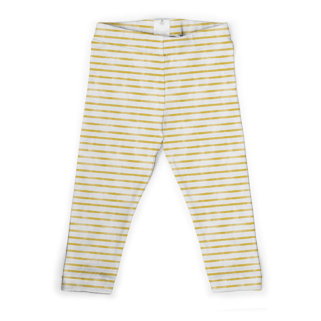 Organic cotton breton stripe kids leggings