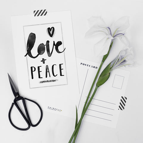 Love + Peace Charity Postcard