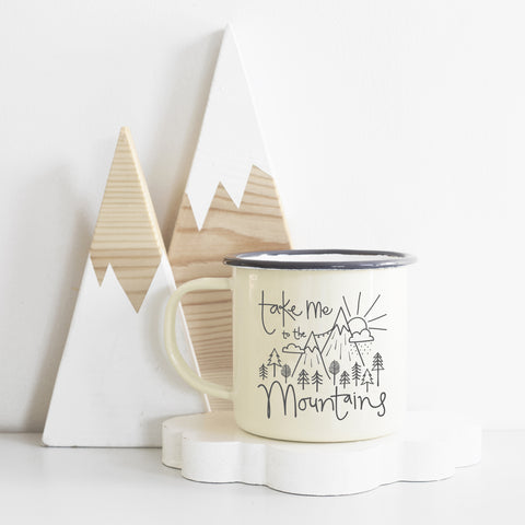 Take Me To The Mountains Enamel Mug