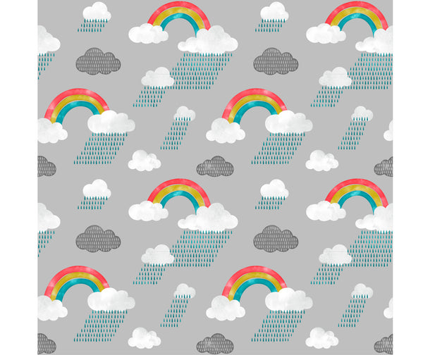 watercolour rainbow print organic cotton