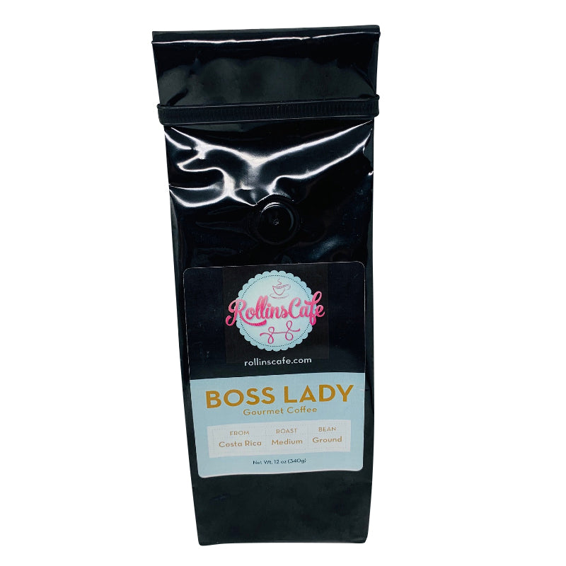Boss Lady Costa Rican Gourmet Ground Coffee Medium Roast Sealed Fresh - RollinsCafe