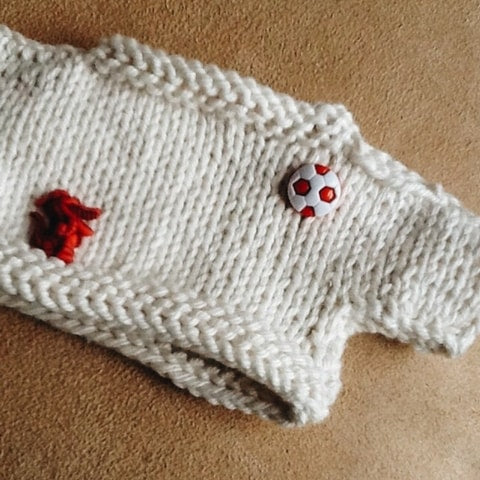crafting with kids - sew a favourite button on their jumper