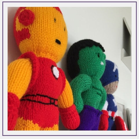knitted superheroes knitsonstix