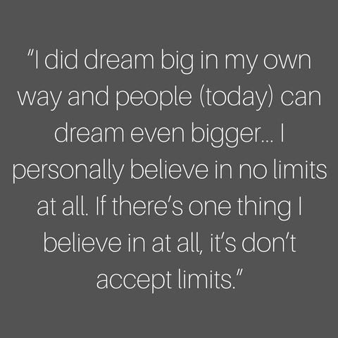 venus williams speech as role model - dream big and don't accept limits