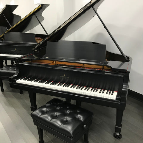 Steinway L Grand Piano Ebony Satin Finish,Grand, Baby Grand, Steinway,- Orpheus Music Group McLean, Fairfax
