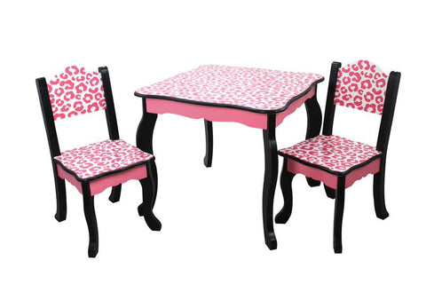 Animal Print Table and Chair Set