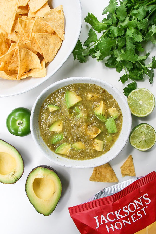 Salsa Verde with Avocado from Nourishing the Glow
