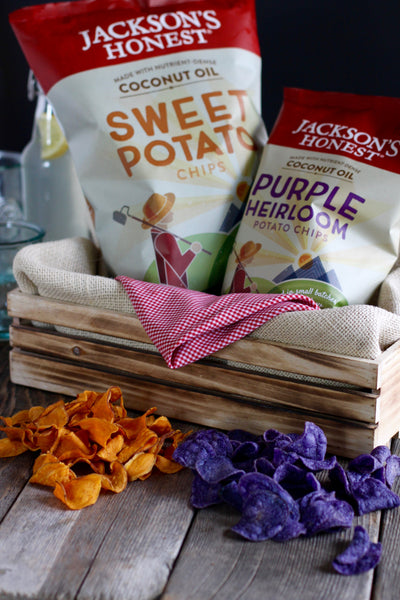 Jackson's Honest Sweet Potato Chips and Purple Heirloom Potato Chips