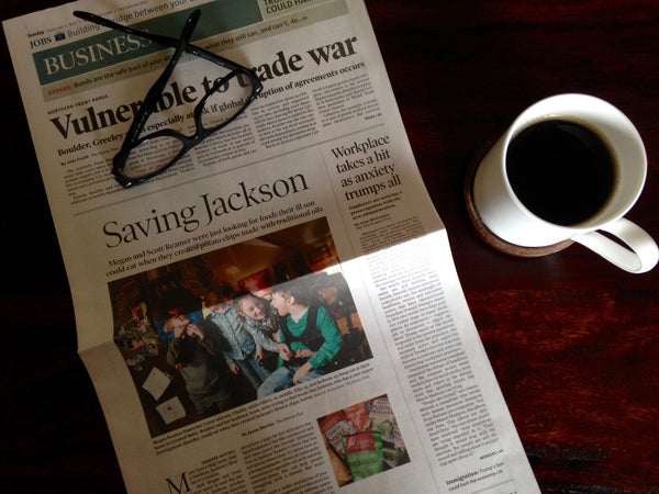 Cover of Denver Post business section: Jackson's Honest