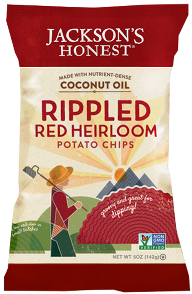 Jackson's Honest Rippled Red Heirloom Potato Chips