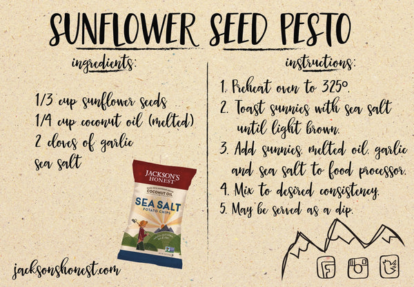 Sunflower Seed Pesto Dip