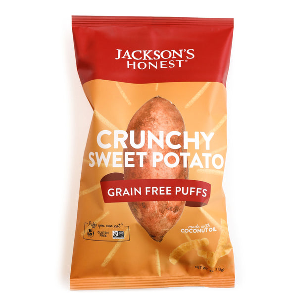 Crunchy Sweet Potato Grain Free Puffs
