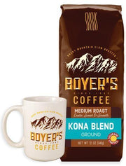 Special Boyers Only Offer - Coffee Mug - Kona Blend - 12 Ounce Bag - Ground - Surname