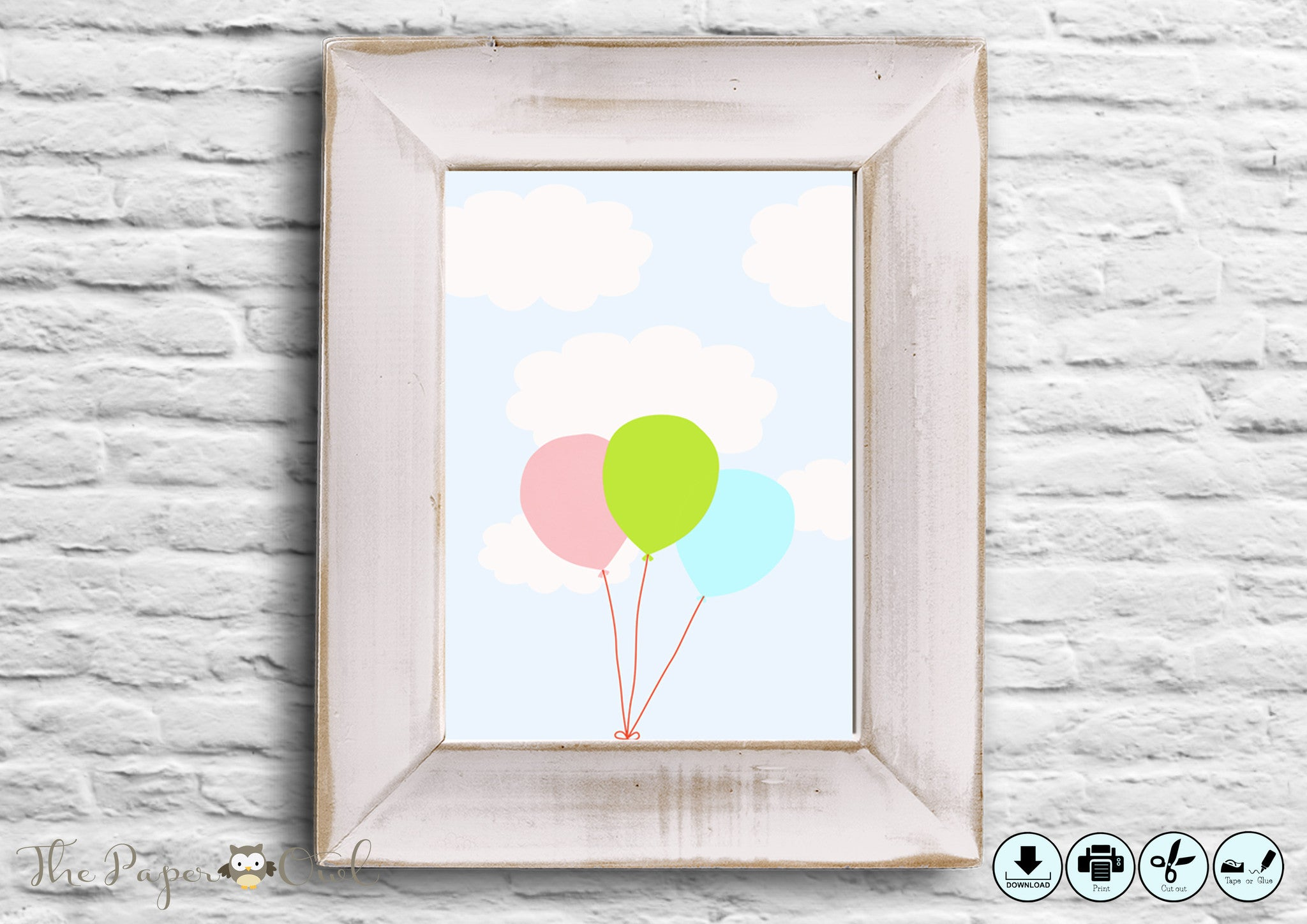 Printable Balloon poster– The Paper Owl