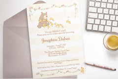 Bear Baby Shower invitation, editable - the paper owl