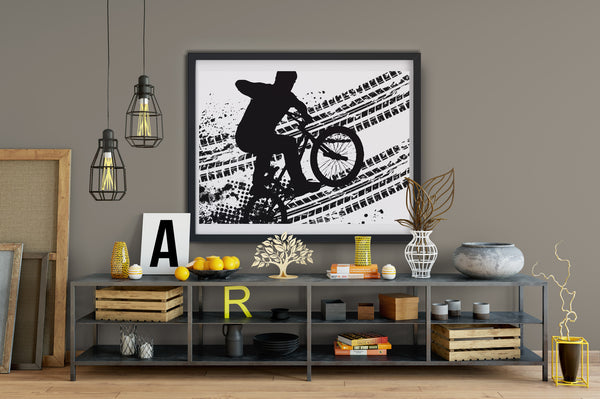Bicycle poster wall art, printable