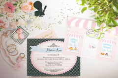 Cake Bakery Shop party invitation, printable - The Paper Owl