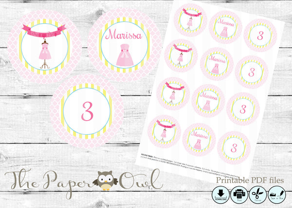 Dress Up party cupcake toppers, customize yourself - The Paper Owl