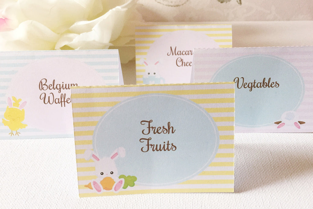 Eatser tent style table cards, customize yourself - the paper owl