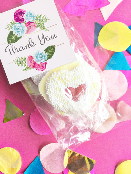 Flower thank you gift tags - the paper owl