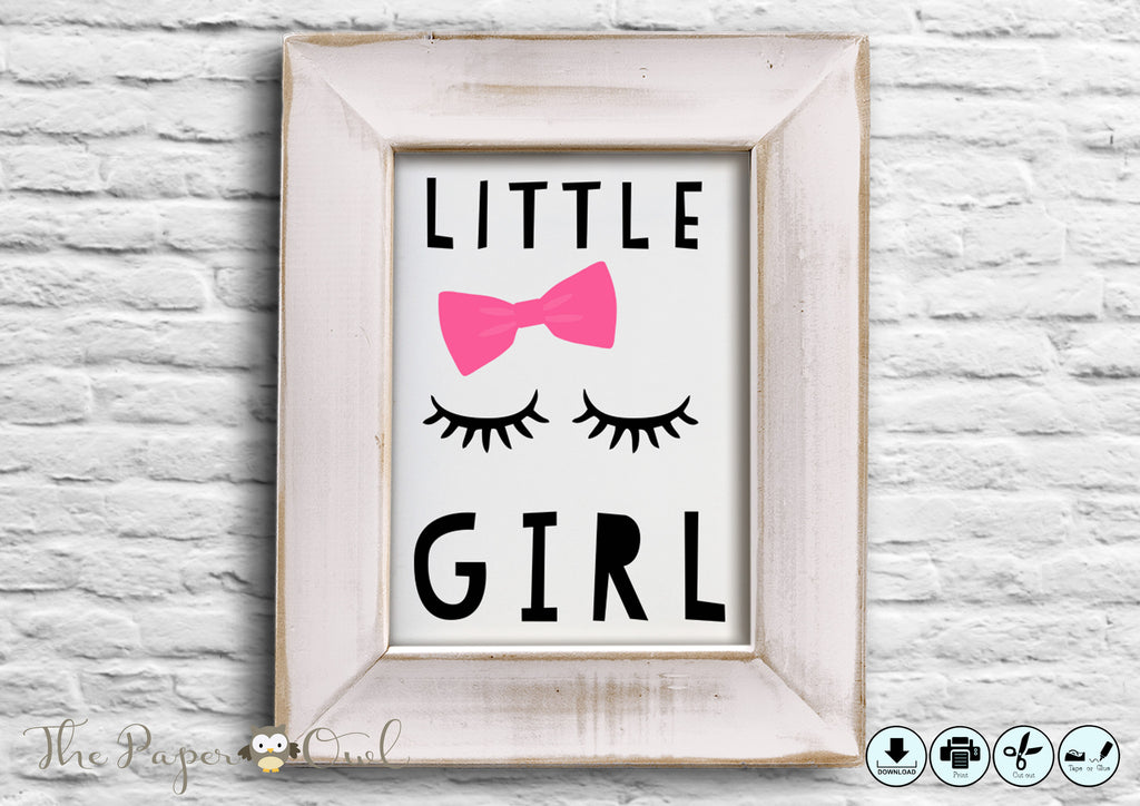 Mademoiselle printable poster - The Paper Owl