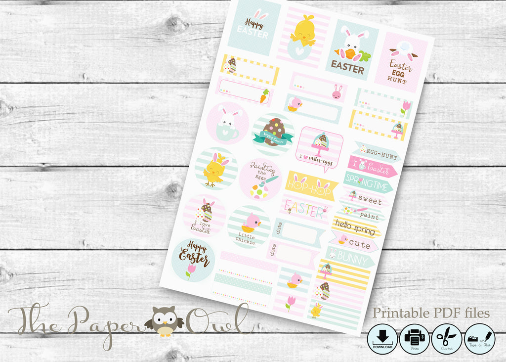 Easter Planner Stickers , printable