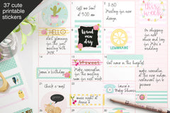 Colorful Spring Happy Planner Stickers - the paper owl