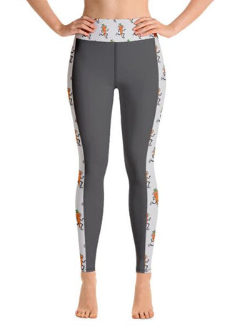 Women's Throwback-Carrot Black/White Yoga Pants