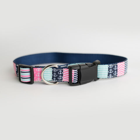 Nantucket Preppy Dog Collar