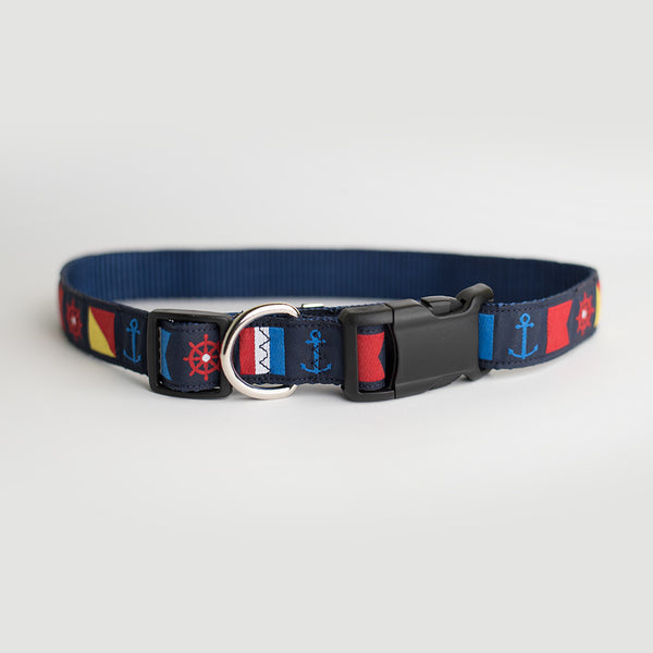 Nobska Nautical Dog Collar
