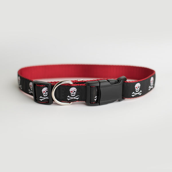 Popponesset Island Pirate Dog Collar